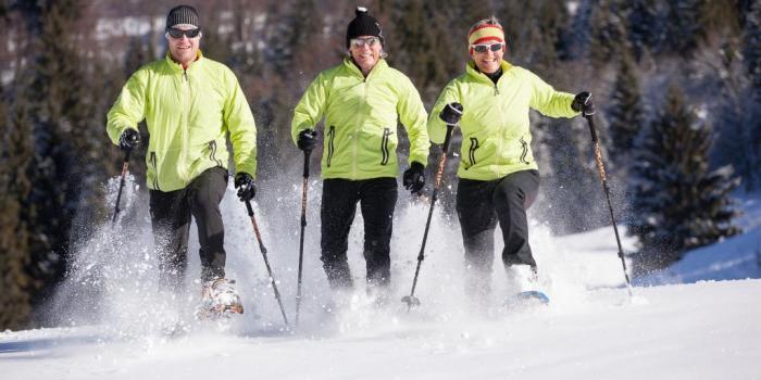 Schneeschuhtour vom Welcup Express über den Allgäuer Berghof zur Weltcuphütte
